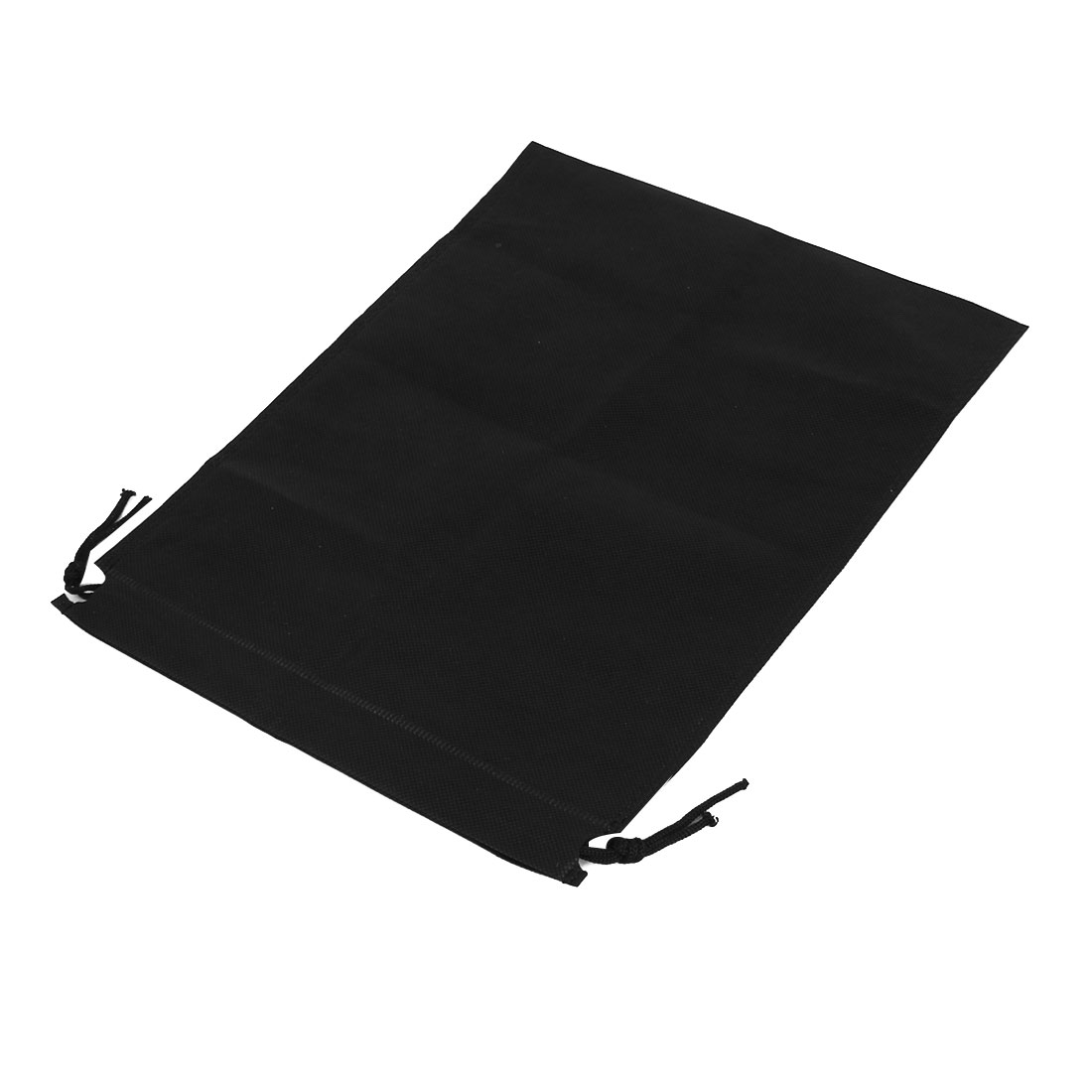 Drawstring Cinch Sack Rectangular Bags Holder 34cm x 25cm Black