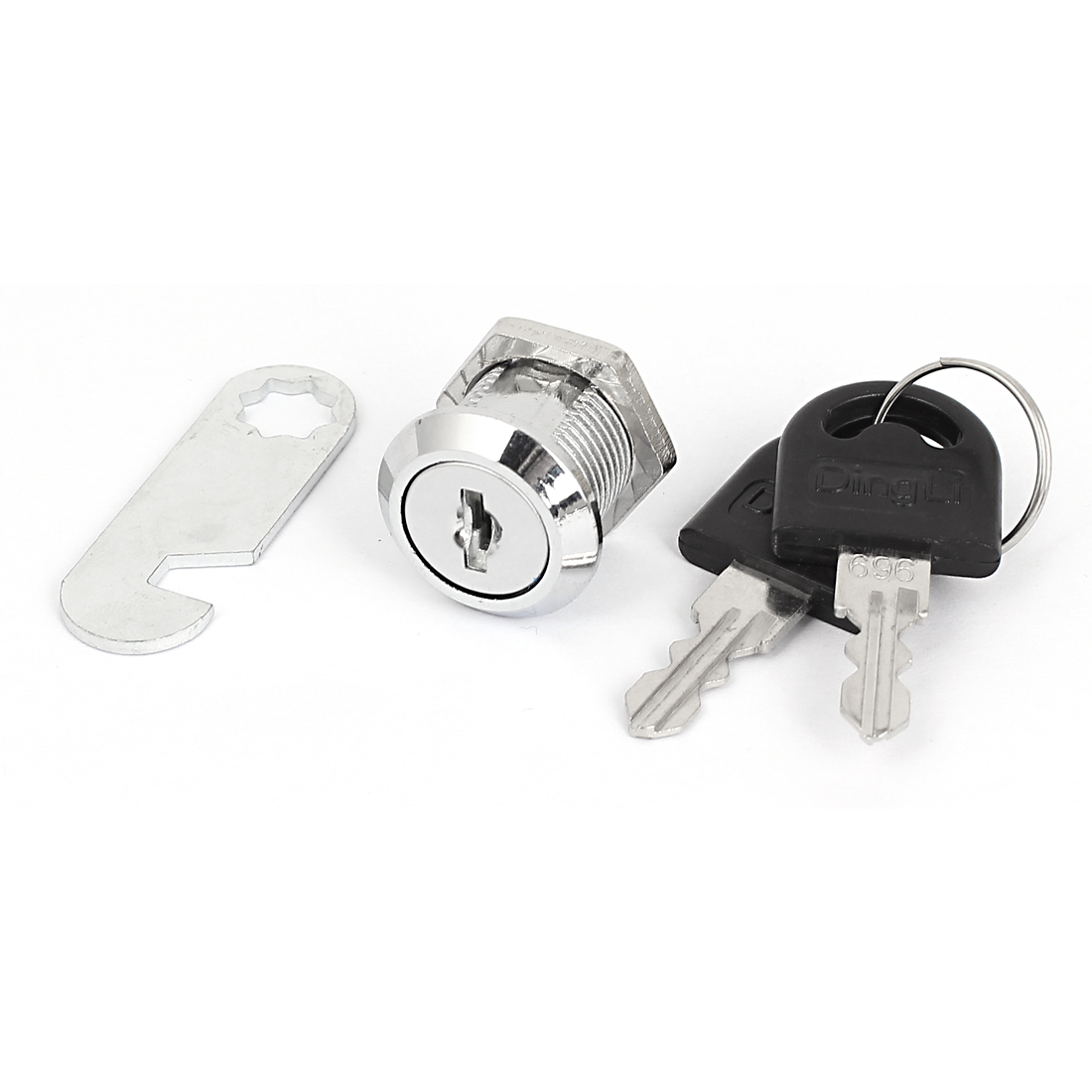 Home Cabinet Cupboard Mailbox 18mm Dia Thread Cylinder Cam Lock w 2 Keys