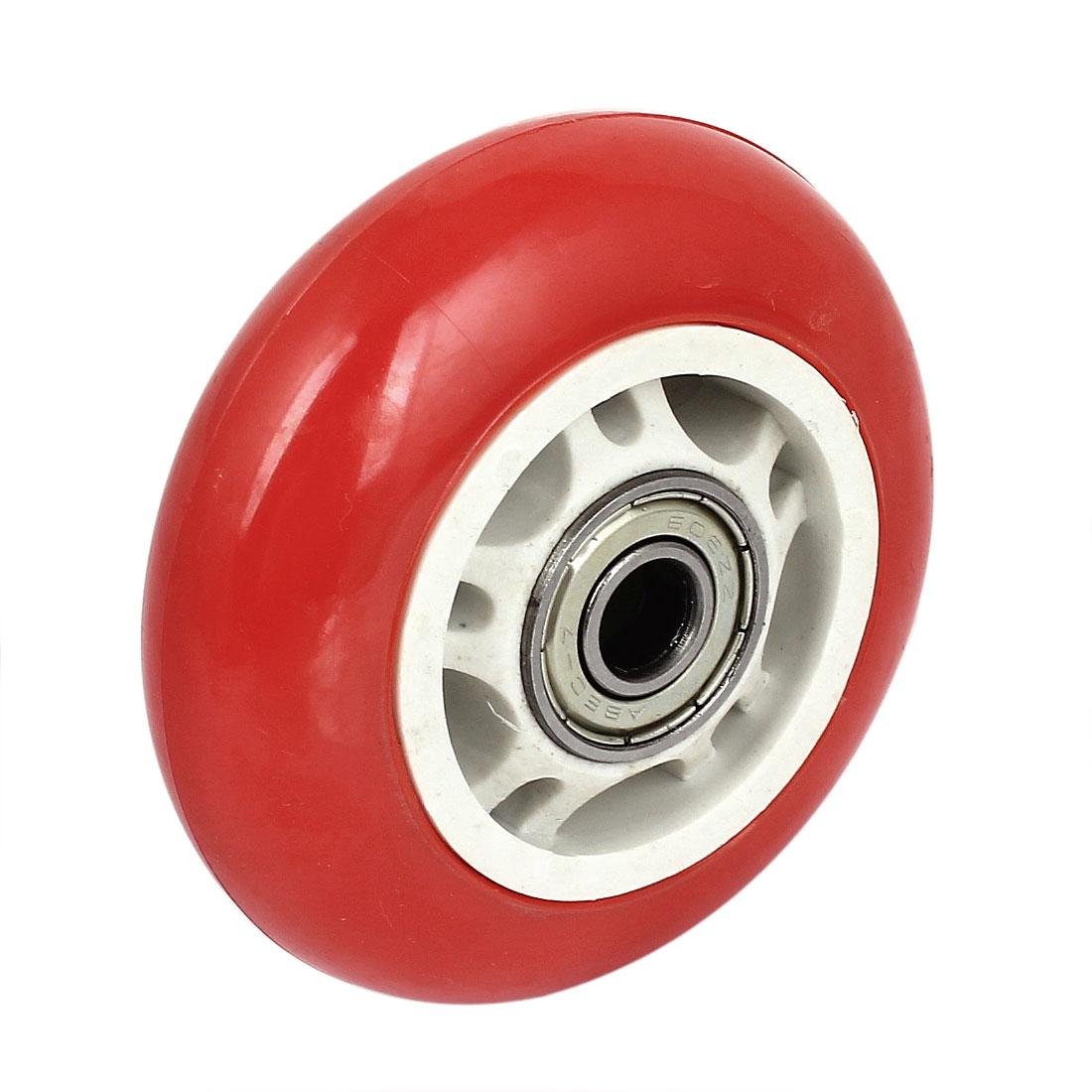 Skateboard Skating Shoes 608ZZ Bearing Inline Wheel Roller Red 68mm Diameter