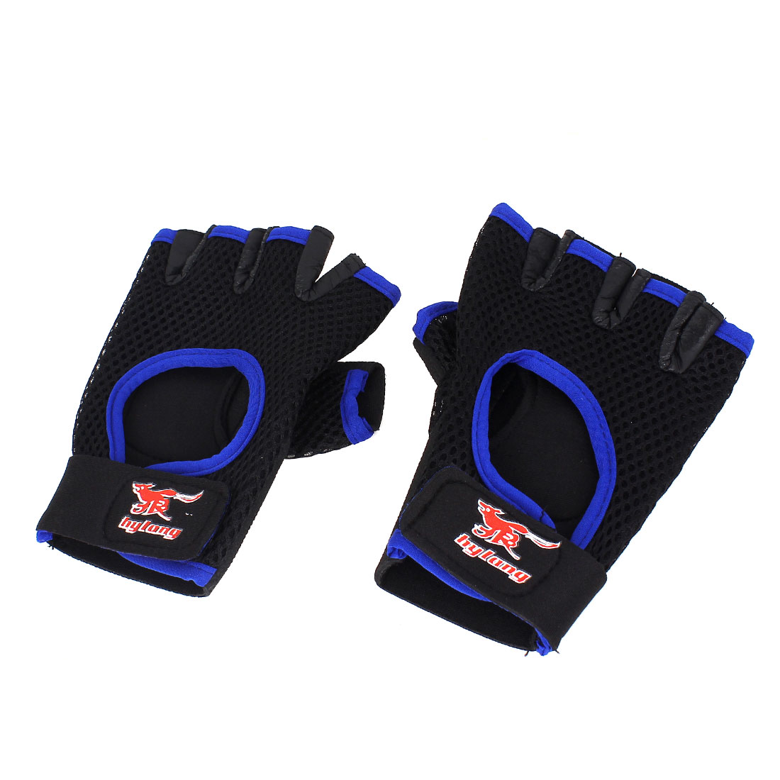 Outdoor Sports Gym Neoprene Palm Fingerless Gloves Wrist Protector Wrap Brace Pair