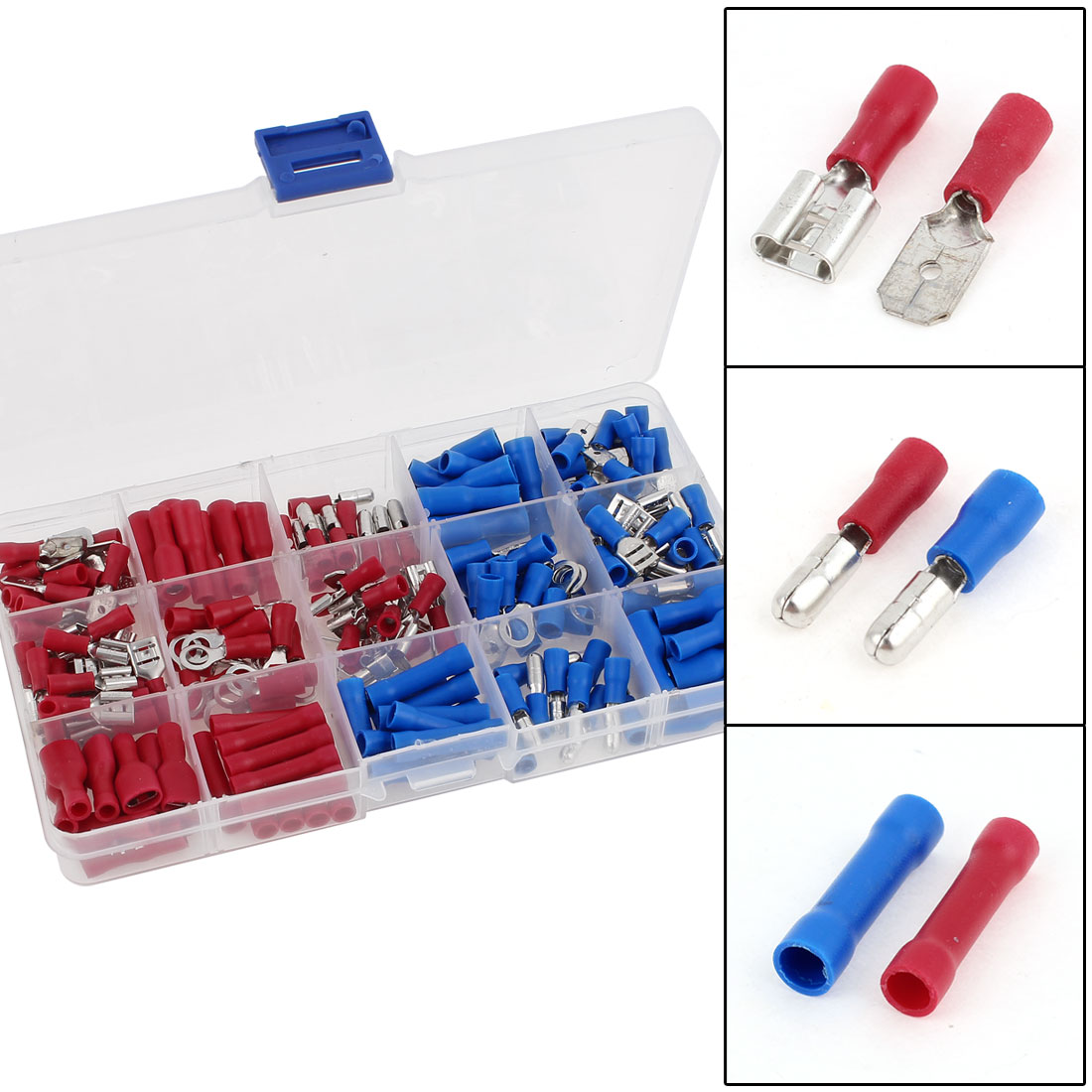 200 Pcs Wire Connector Insulated Crimp Terminal Assortment Kit