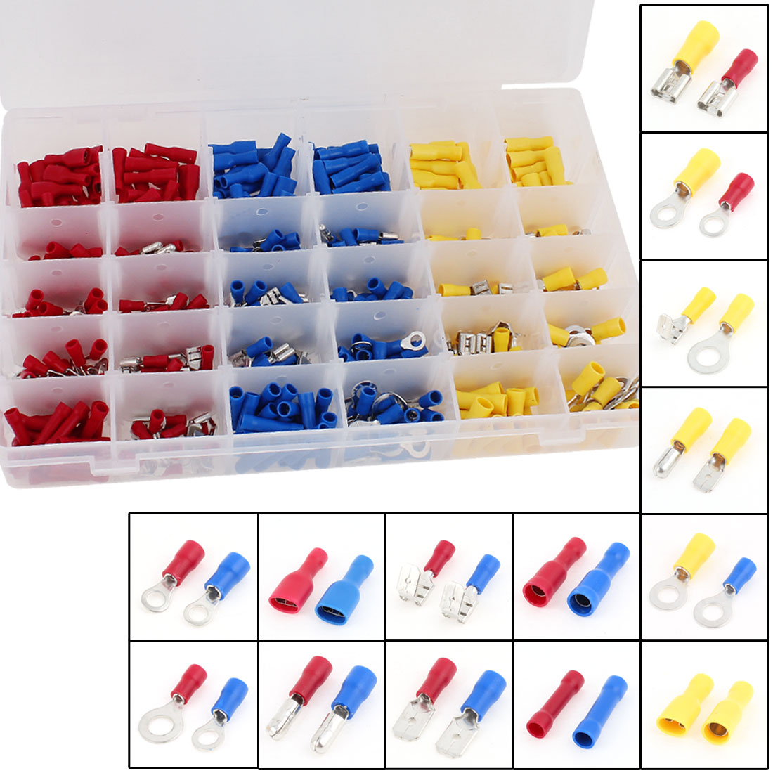 480 Pcs Wire Connector Insulated Crimp Terminal Assortment Kit