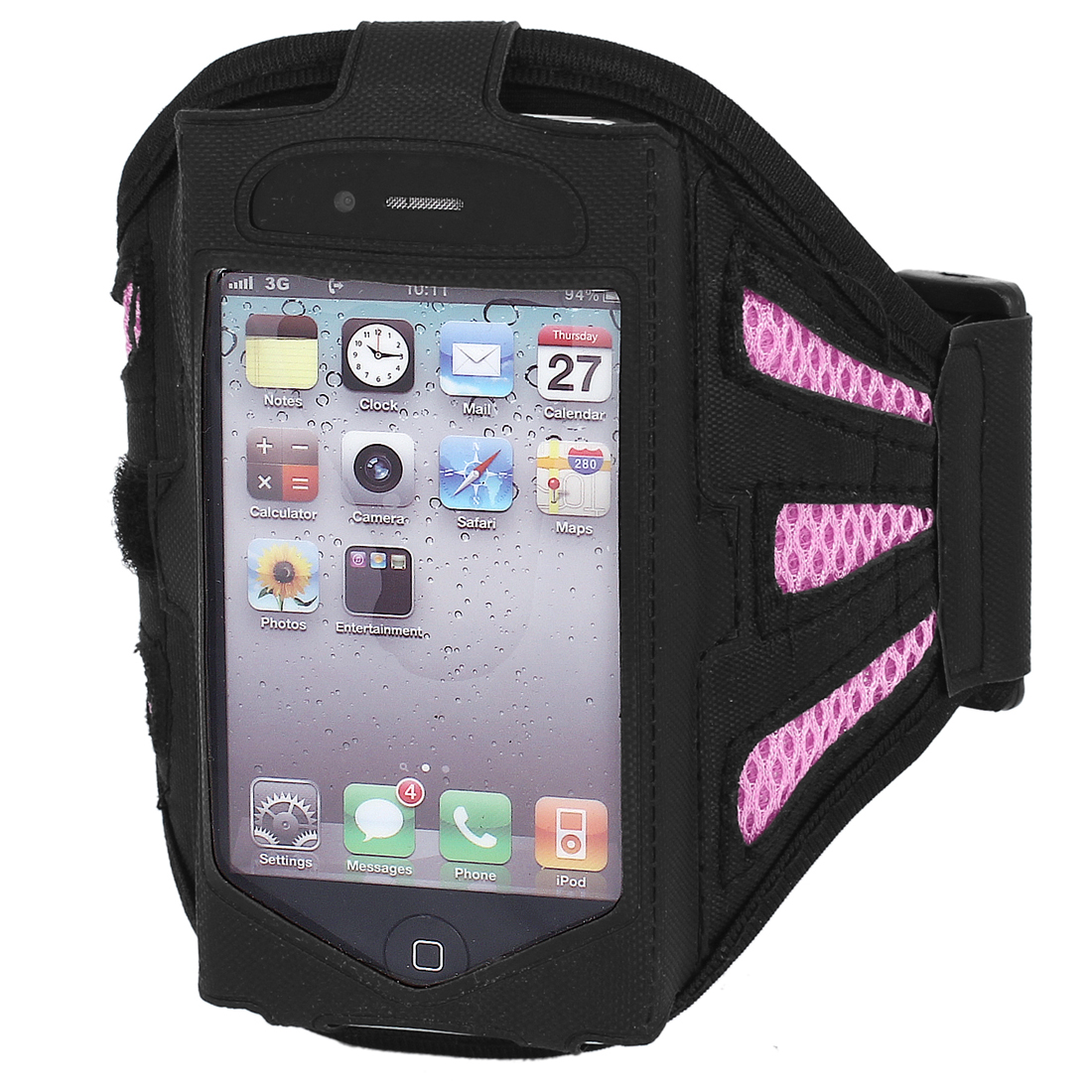 Sports Exercising Armband Case Holder Pink Black for iPod Nano 5th Gen 5G