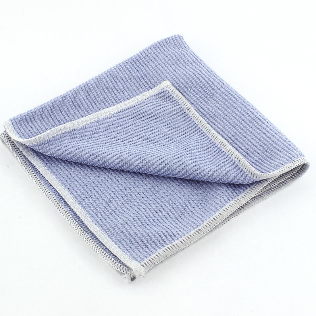 Car Auto Window Glass Anti-fog Towel Cloth Clothing Blue 27cm x 27cm