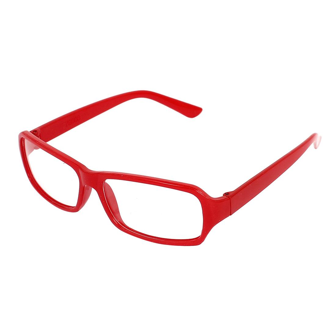 Lady Plastic Full Rim Clear Lens Plain Spectacles Glasses Eyeglasses Red