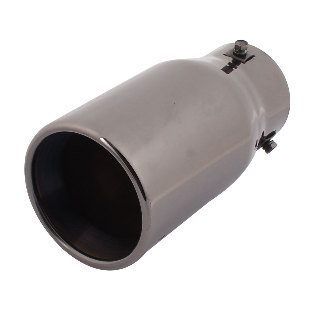 Vehicle Car Auto Round 77mm Inlet Rear Silencer Tail Exhaust Muffler Tip Pipe