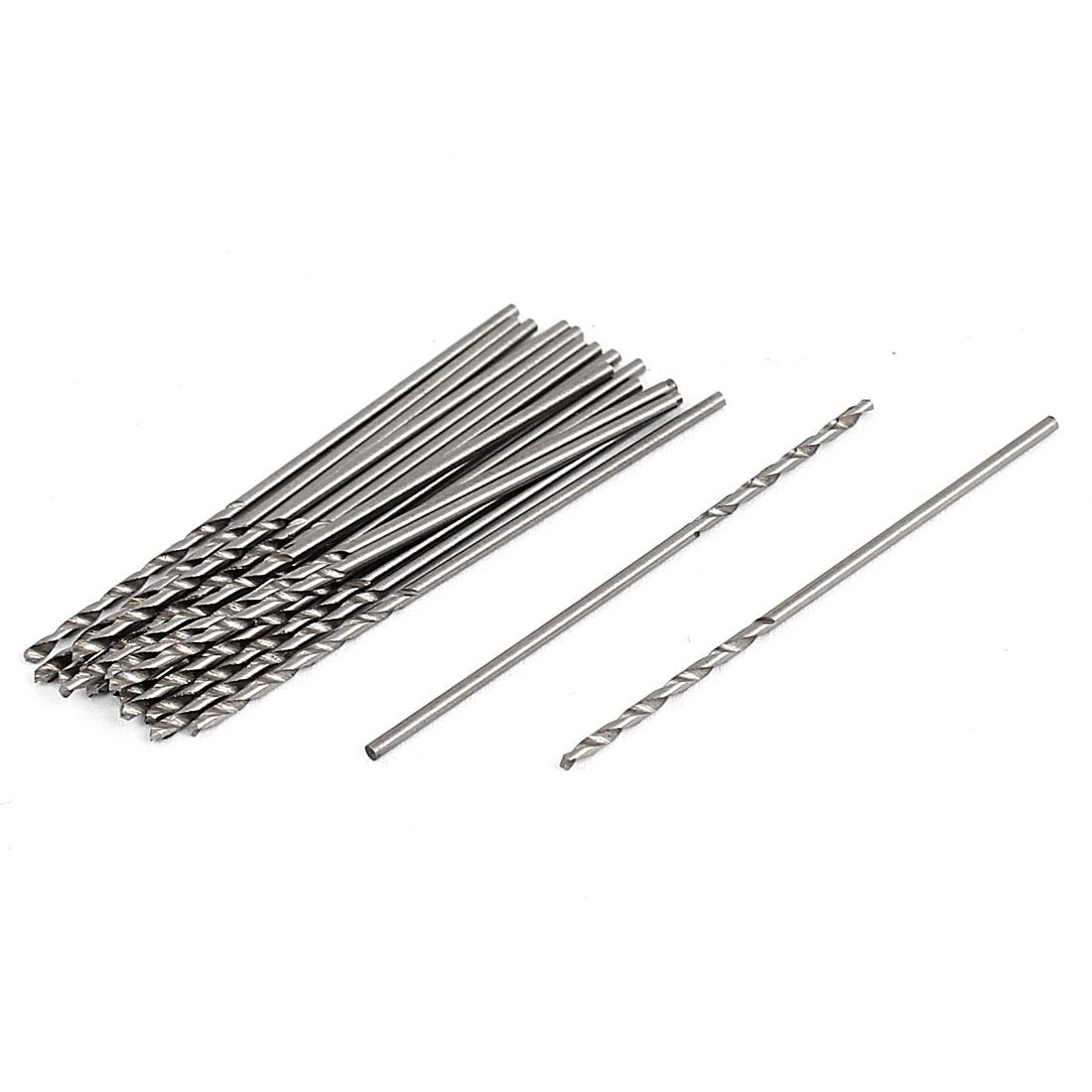 1mm Cutting Diameter HSS Straight Shank Woodworking Twist Drill Bit 20 Pcs