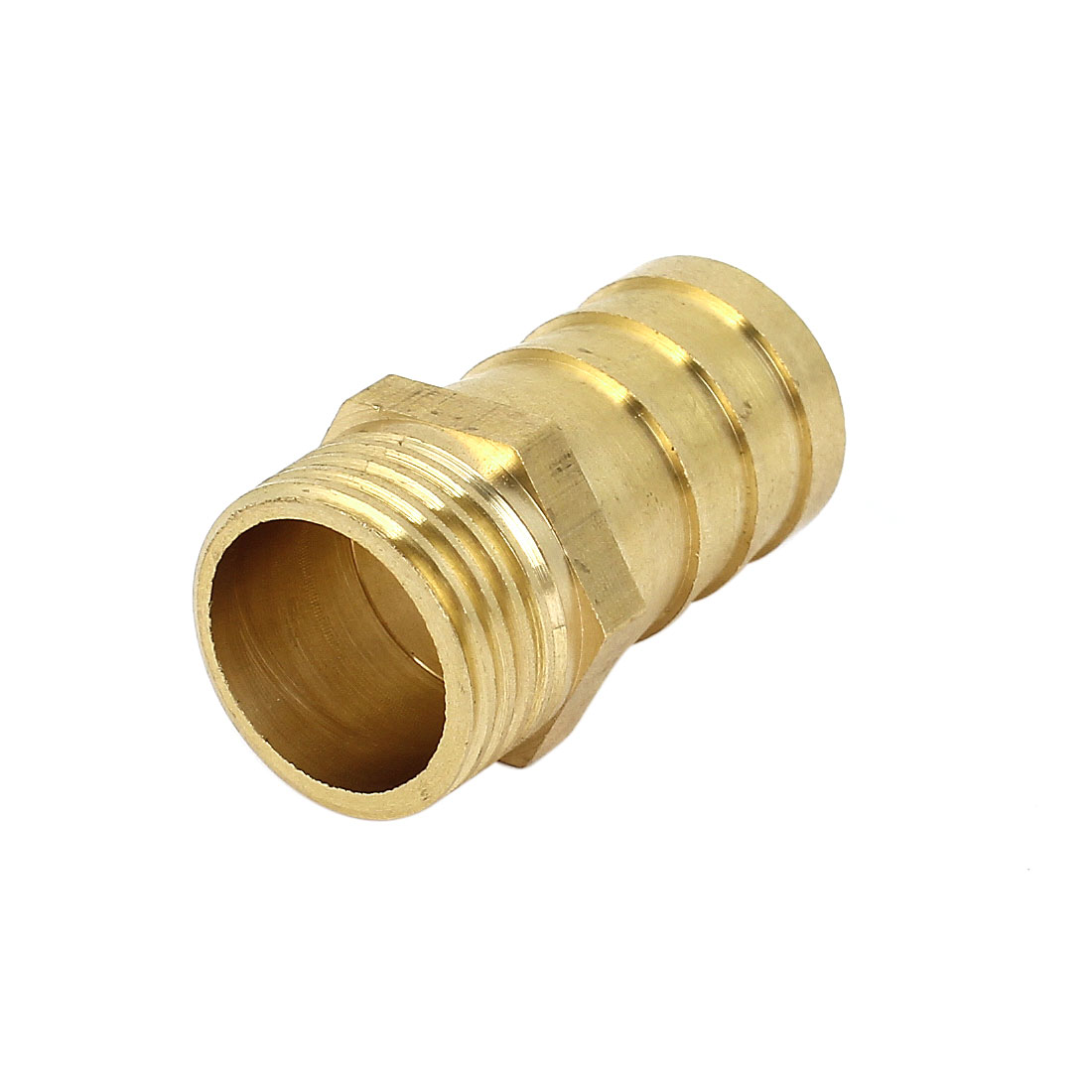 1/2BSP 20mm Male Thread to 16mm Inner Dia Tube Straight Brass Pneumatic Air Hose Barb Coupler Fitting Connector