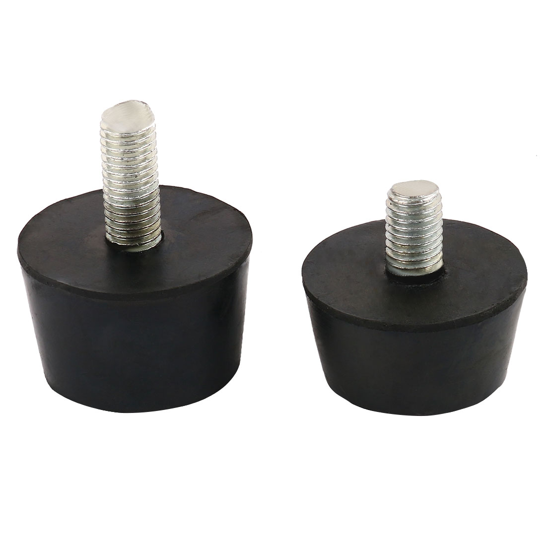 2 Pcs Rubber Base Screw in Chair Table Leg Foot Pads Protectors 8mmx16mm+25mm