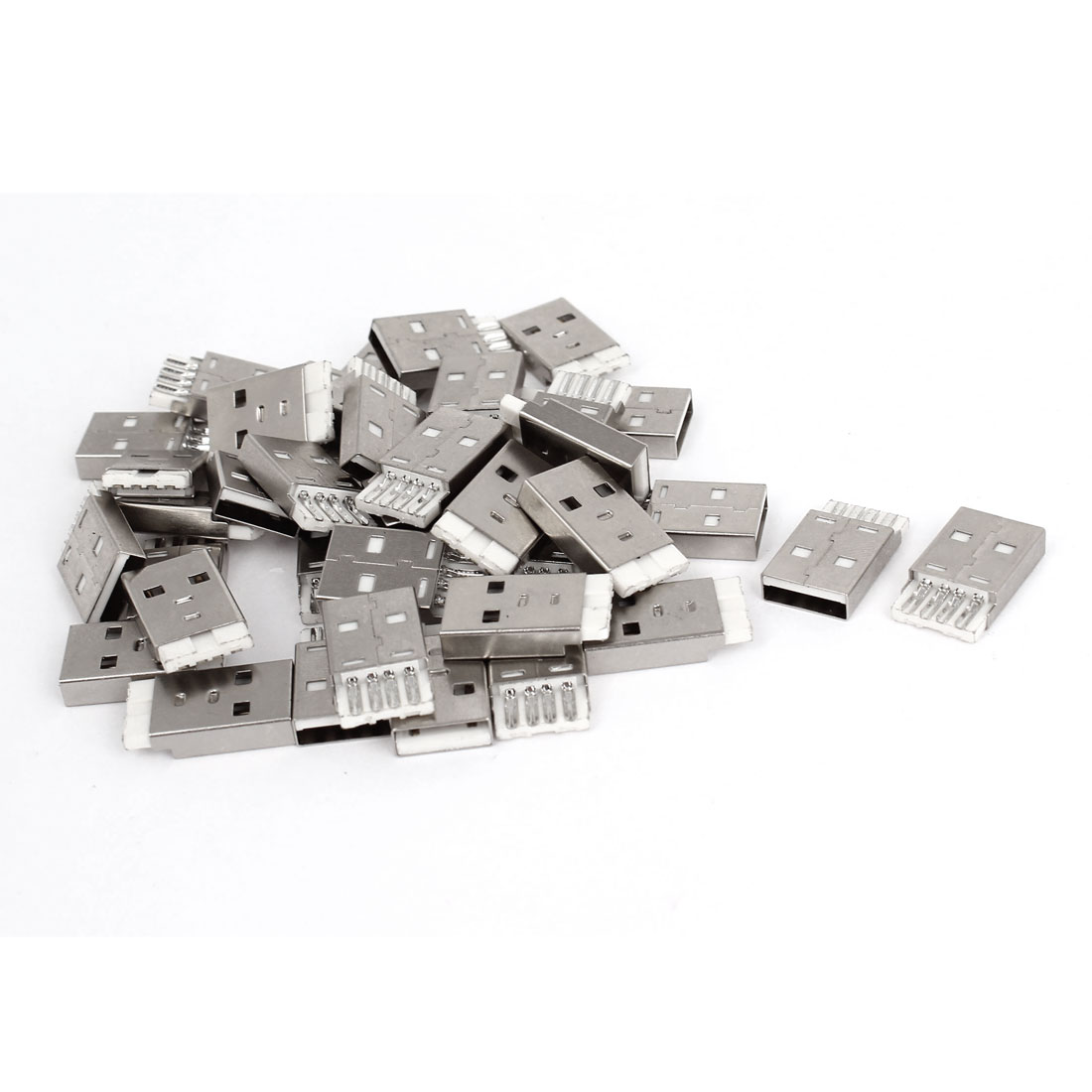 40 Pcs Spare Parts Type A Male USB 2.0 4 Pin Solder Socket Connectors