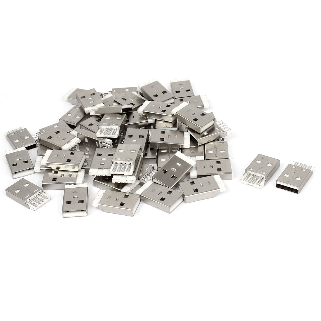 55 Pcs USB 2.0 Type-A Jack 4-pin Male Socket Adapter Connector