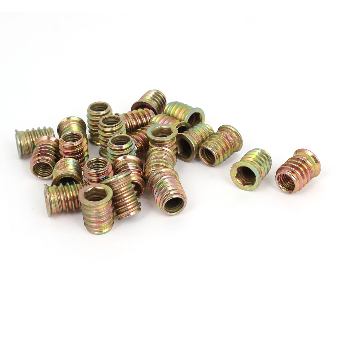 25 Pcs M8x17mm E-Nut Wood Insert Interface Screws Hexagonal Socket Nut Fittings