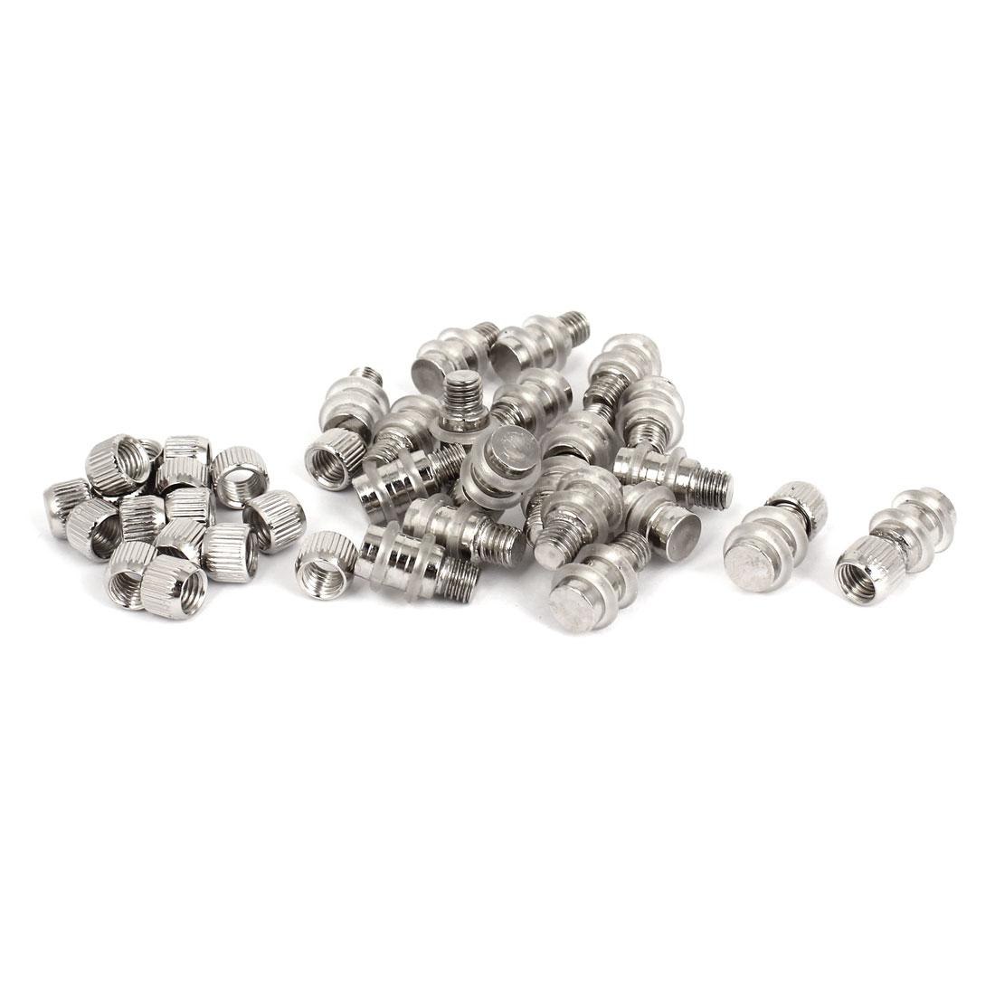 8.5mm Dia 6.5mm Thread Single End Glass Shelf Support Studs Cap Pegs Set 20 Pcs