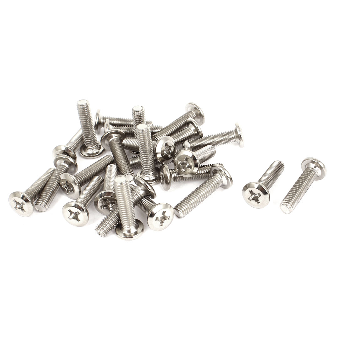 25 Pcs M6x25mm Phillips Countersunk Head Socket Bolts Machine Screws Fasteners