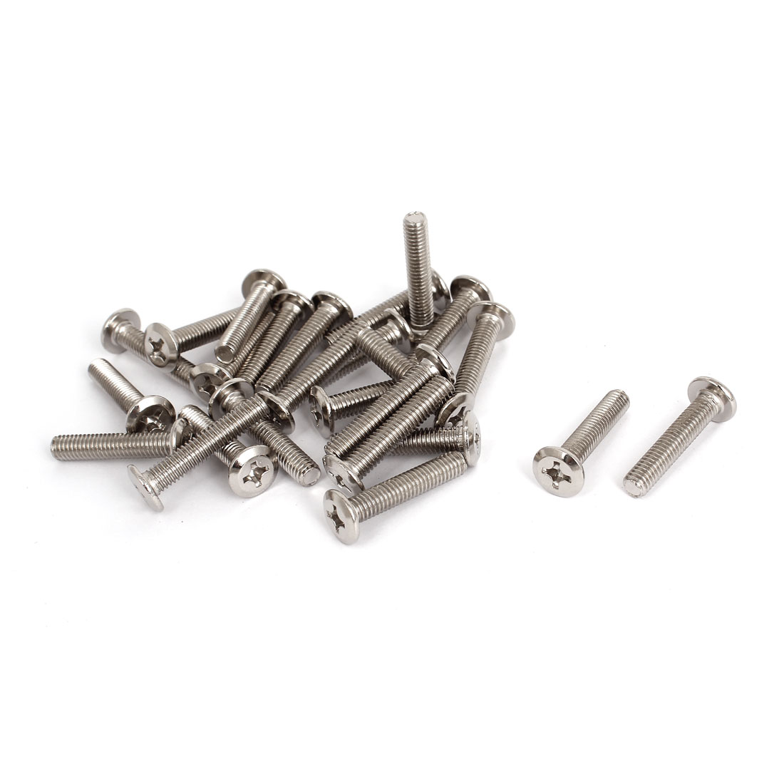 25 Pcs M6x30mm Phillips Socket Countersunk Screw Bolts Fasteners for Furniture