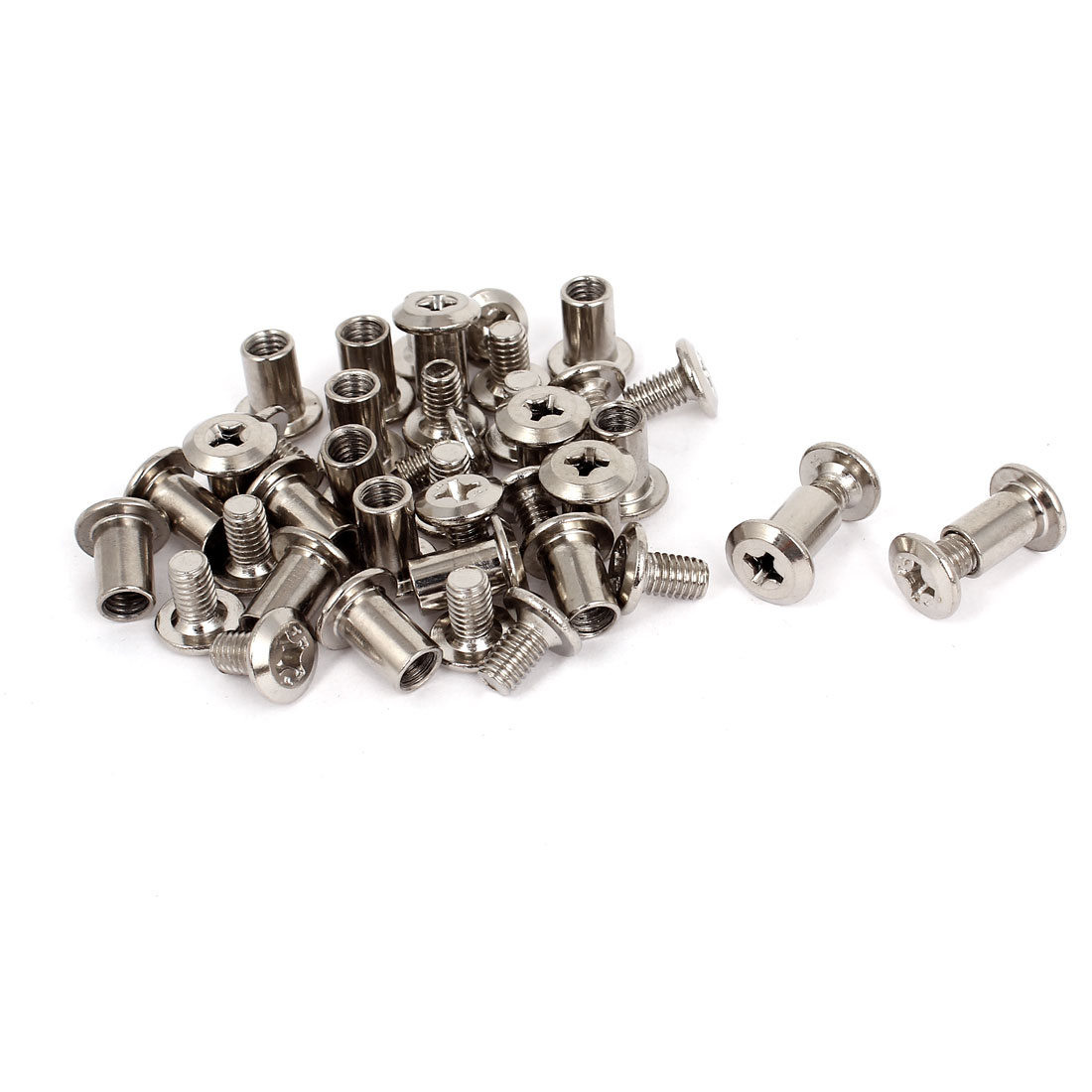 20sets M6 Rivet Phillip Head Nut Countersunk Screw Bolts Furniture Fitting