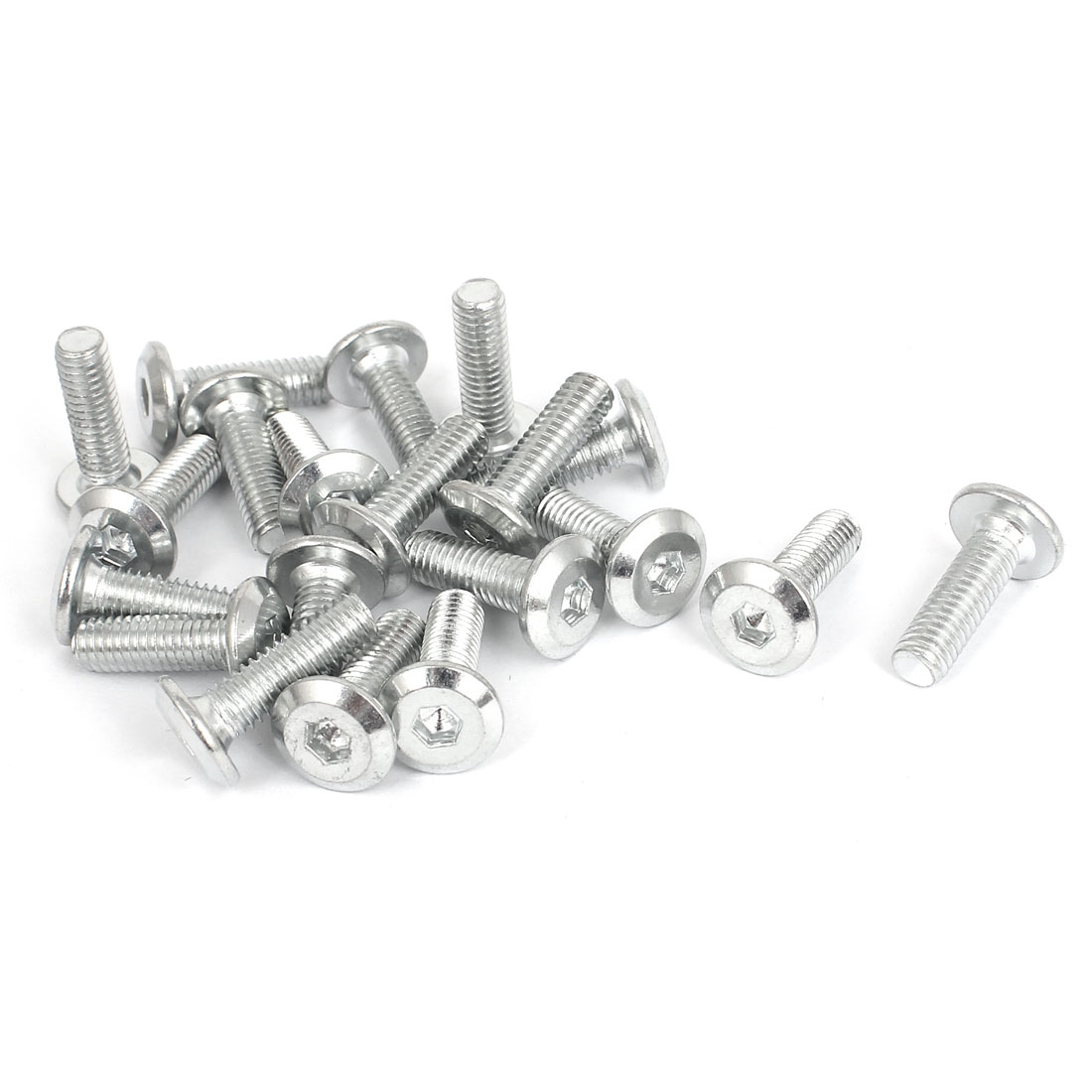 20 Pcs Countersunk Flat Head Hex Key Socket Bolts Screws Fasteners M6 x 20mm