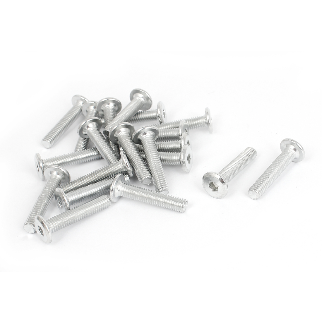 20 Pcs Countersunk Flat Head Cap Hex Socket Bolts Fasteners Screws M6 x 30mm