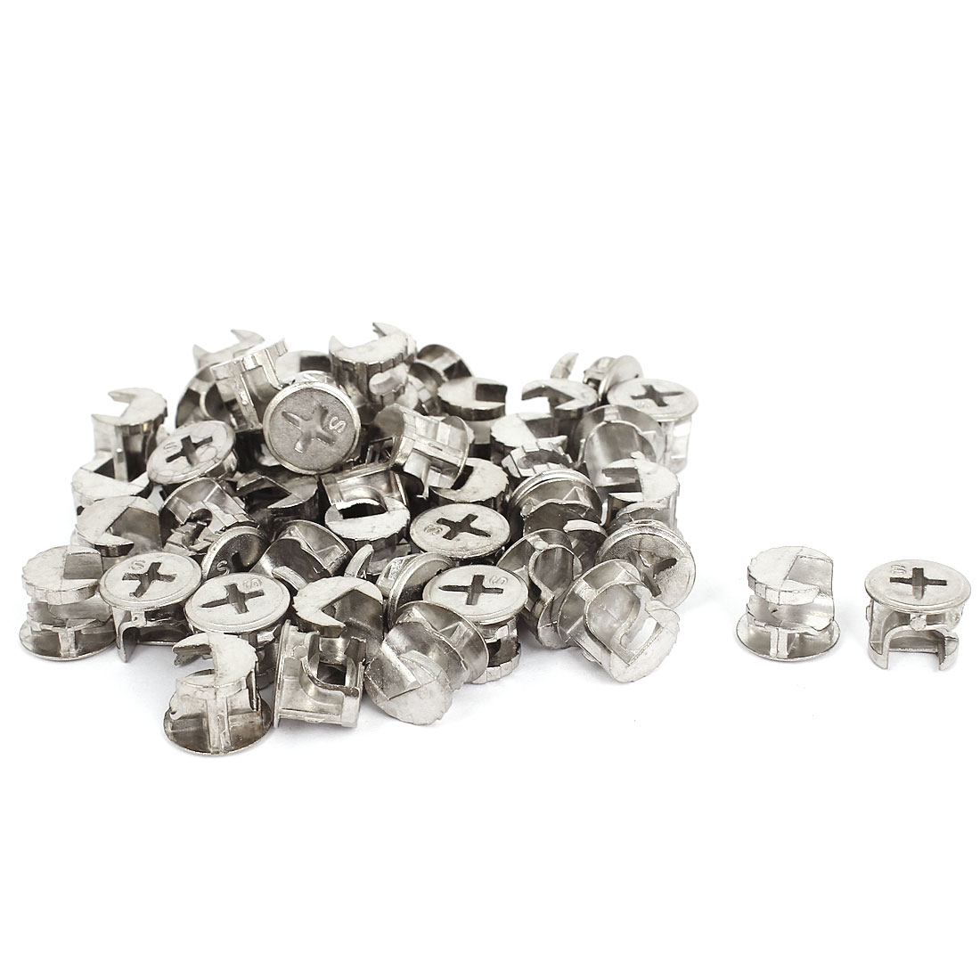 50 Pcs 13mmx11mm Connection Connector Eccentric Wheel Nuts Furniture Hardware