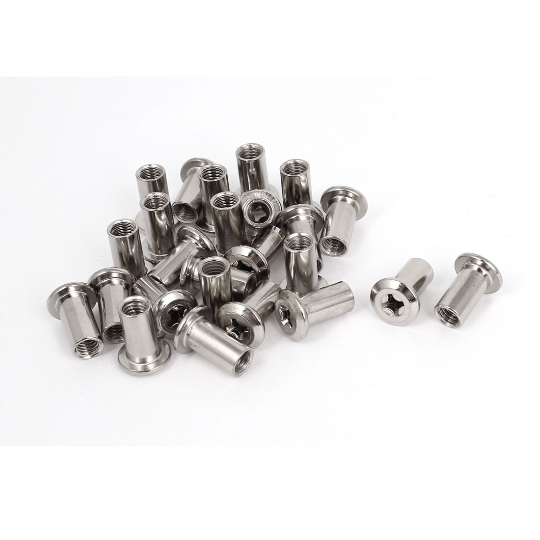25 Pcs M6x17mm Rivet Phillips Head Socket Dowel Barrel Nuts Furniture Fittings