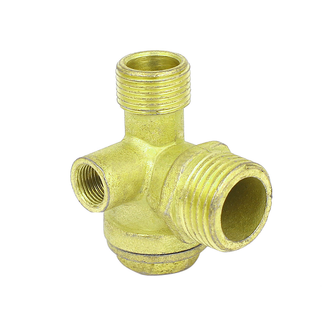 Air Compressor 1/2BSP x 3/8BSP x 1/8BSP Male Female Thread Brass Check Valve