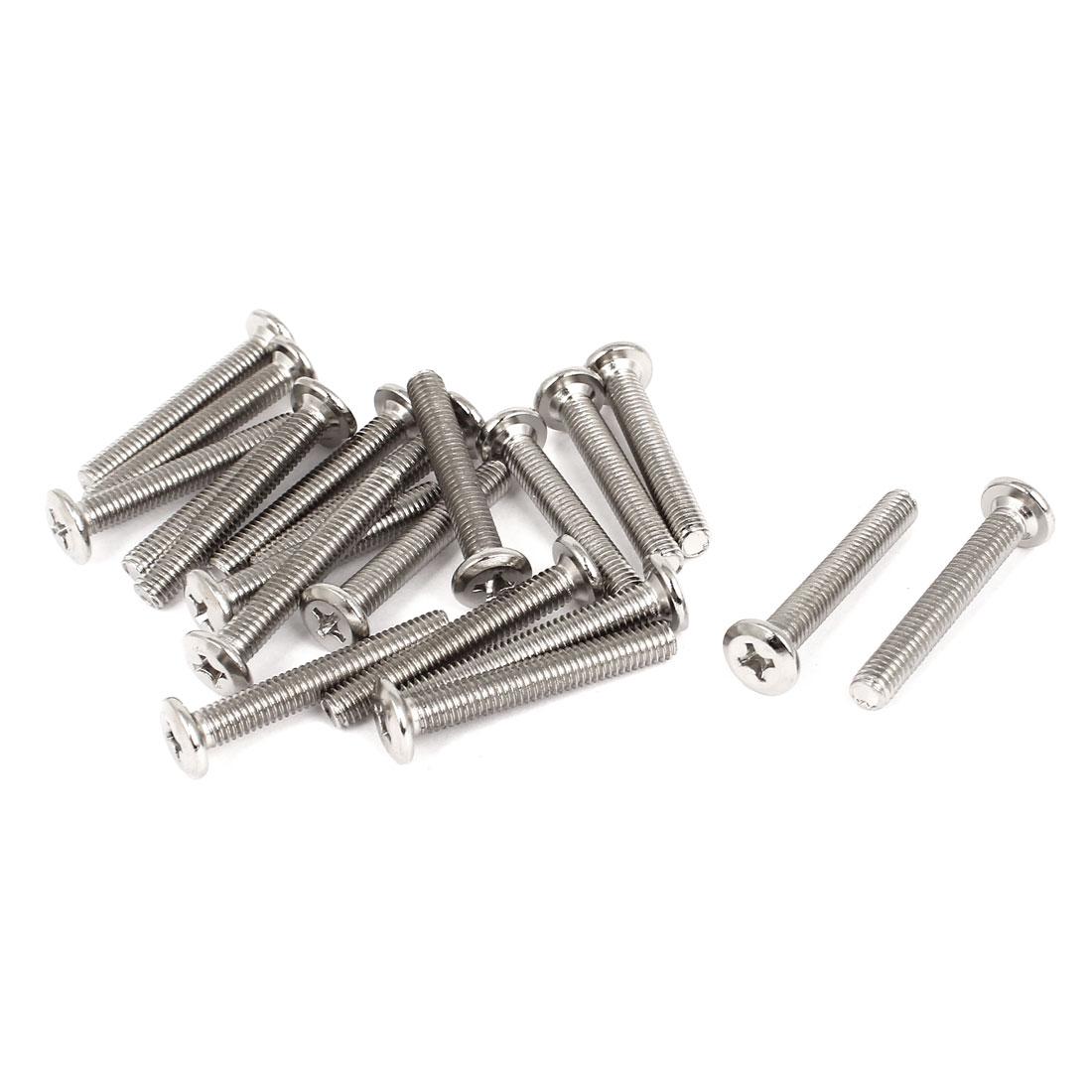Furniture Hardware Phillips Socket Countersunk Head Screw Bolts M6x40mm 20 Pcs