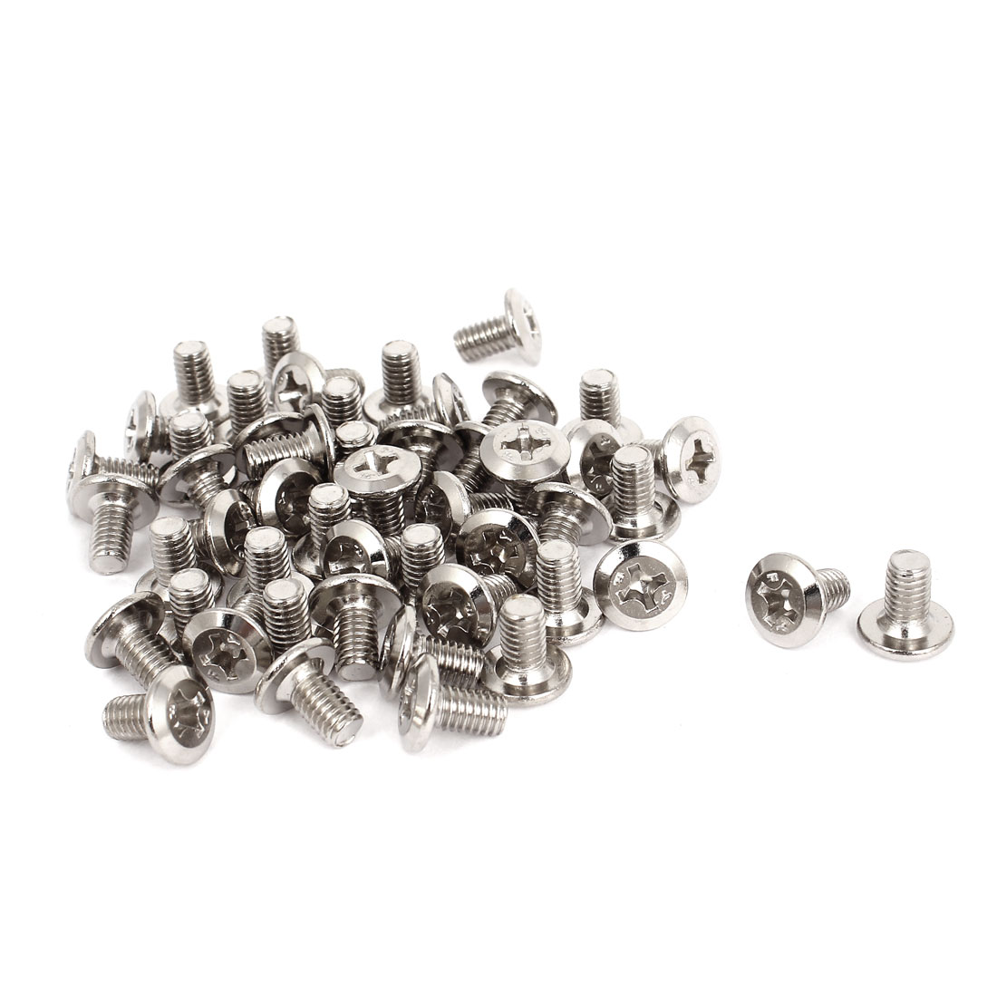 50pcs M6x10mm Phillips Drive Socket Countersunk Flat Head Screws Bolts Fasteners
