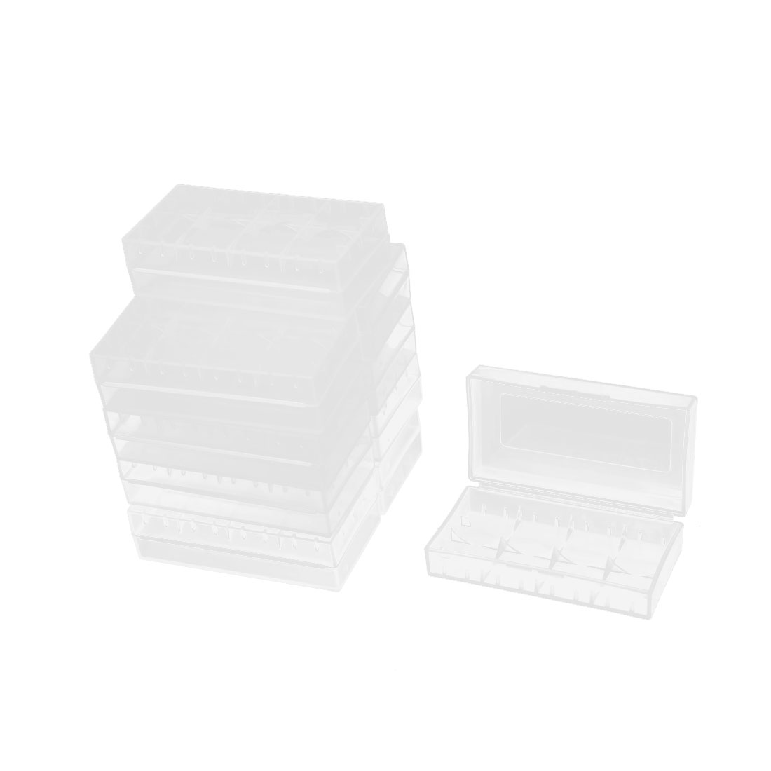 10 Pcs Transparent Earring Jewelry Collection Storage Container Box Case