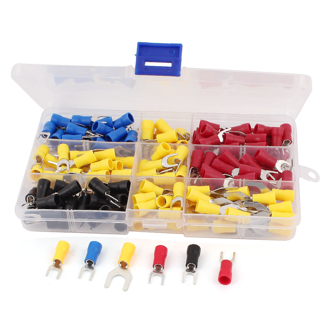180 Pcs Insulated Fork Wire Connector Crimp Terminal Assortment Kit