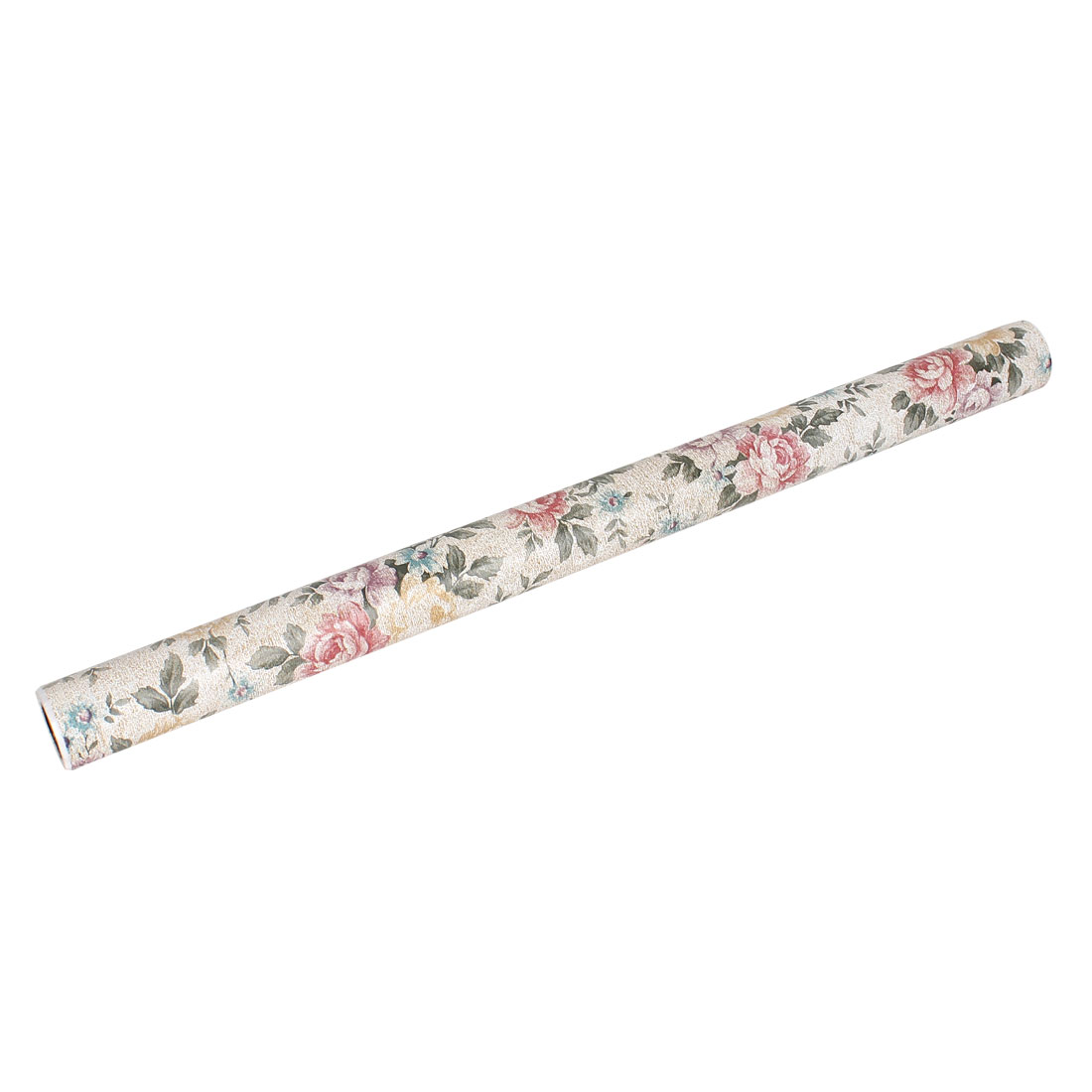45cm x 2m Beige Gray Flowers Pattern Adhesive Wallpaper Roll Sticker