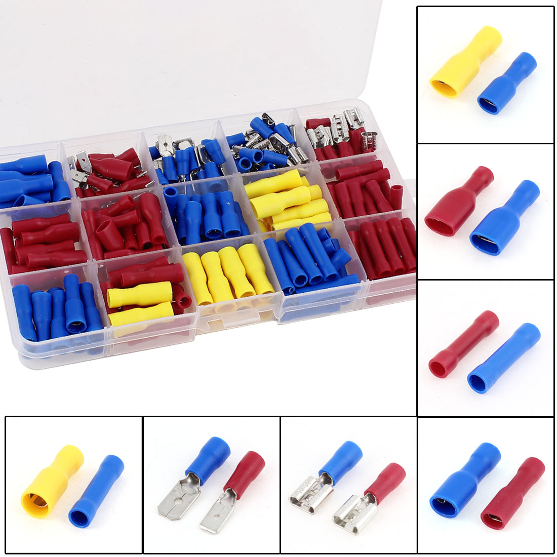 230Pcs Insulated Electrical Wire Connector Spade Crimp Terminal Assortment Kit
