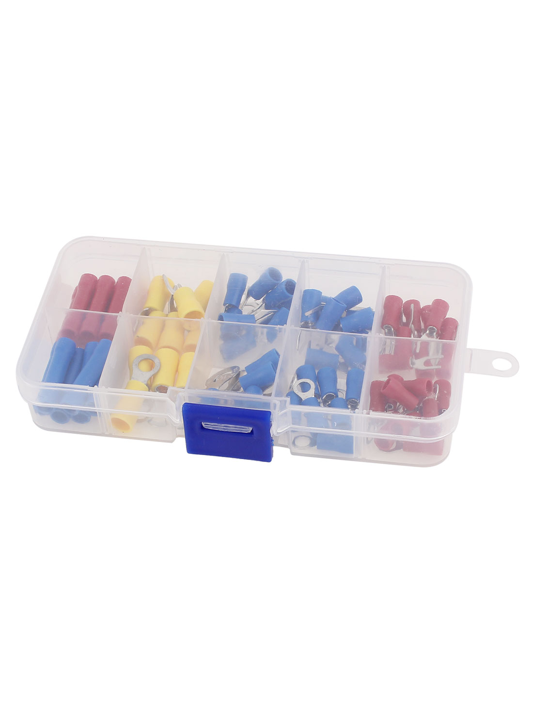 75Pcs Insulated Fork Ring Wire Connector Crimp Terminal Assortment Kit