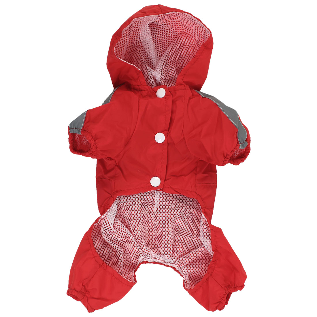 Pet Dog Puppy Outdoor Waterproof Jacket Clothes Apperal Rain Coat Red Size XXS