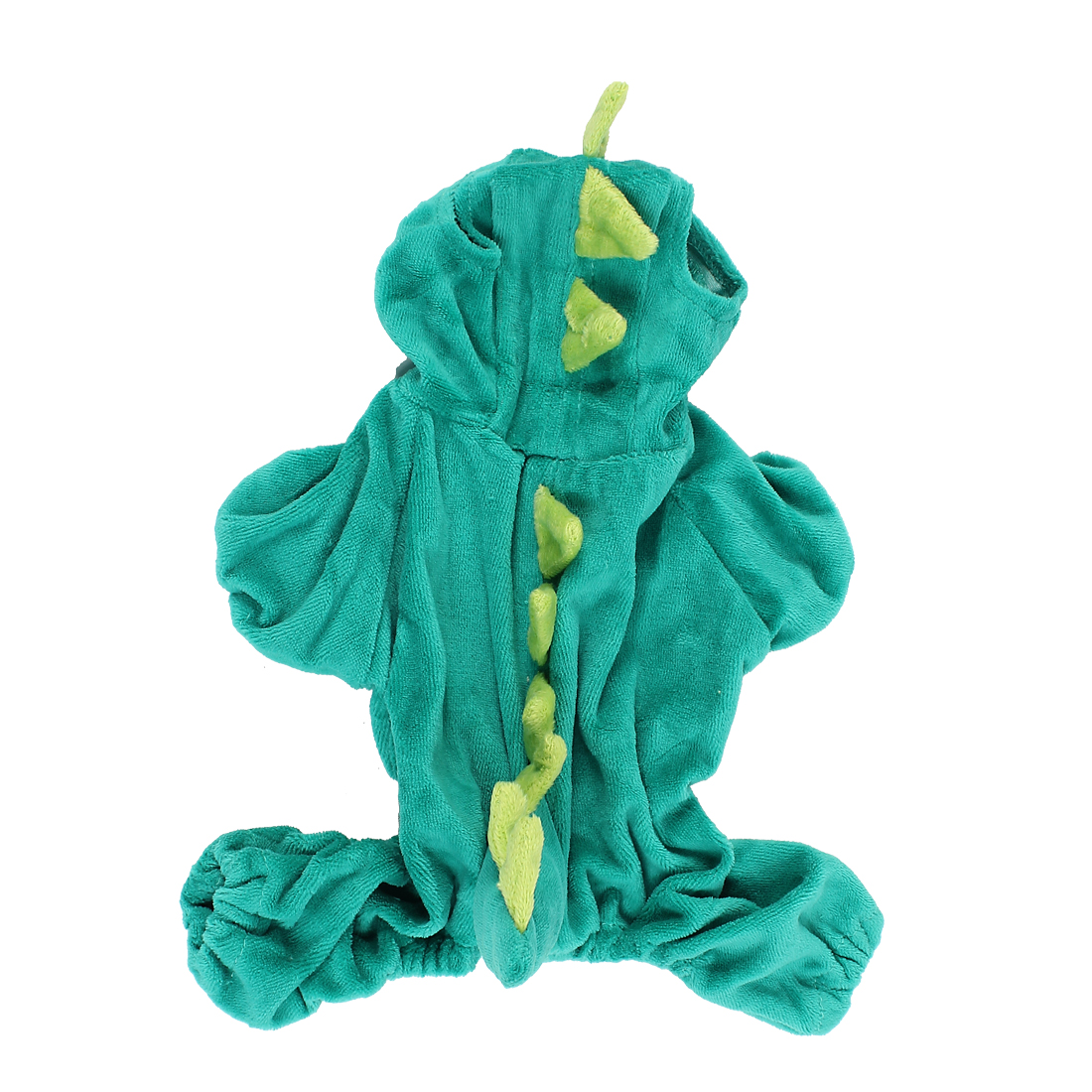 Pet Dog Doggy Dinosaur Shape Hoodie Sleeved Coat Clothes Hunter Green Size XS