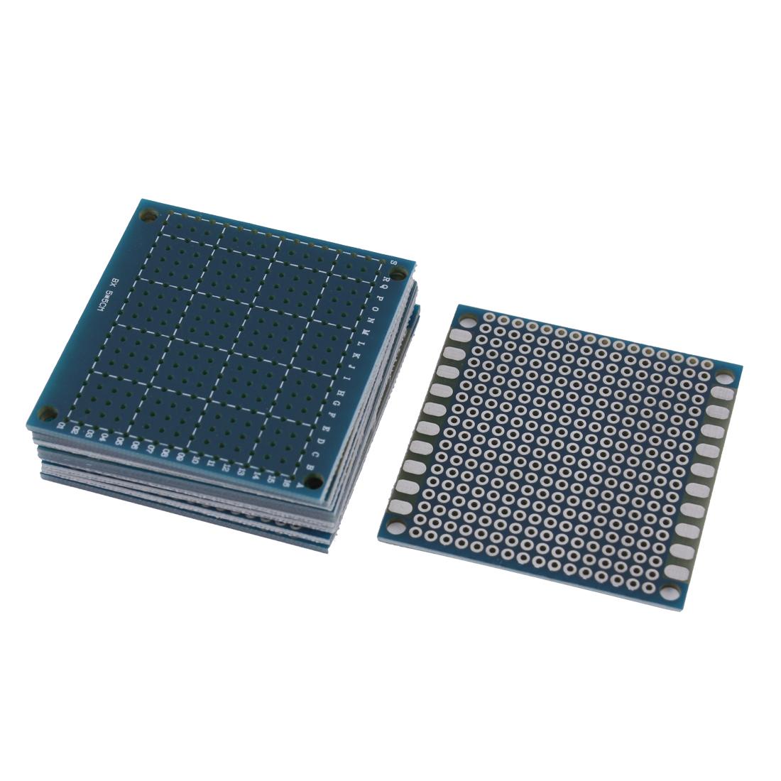 10 Pcs Single Side Prototype PCB Tinned Universal Breadboard 5x5cm 50mmx50mm FR4