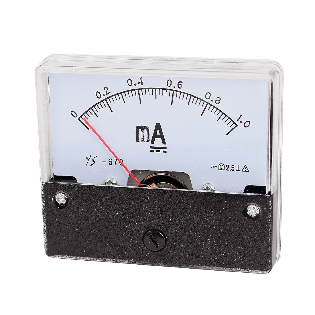 DC 0-1.0mA Dial Analog Panel Current Ammeter Ampere Meter YS-670