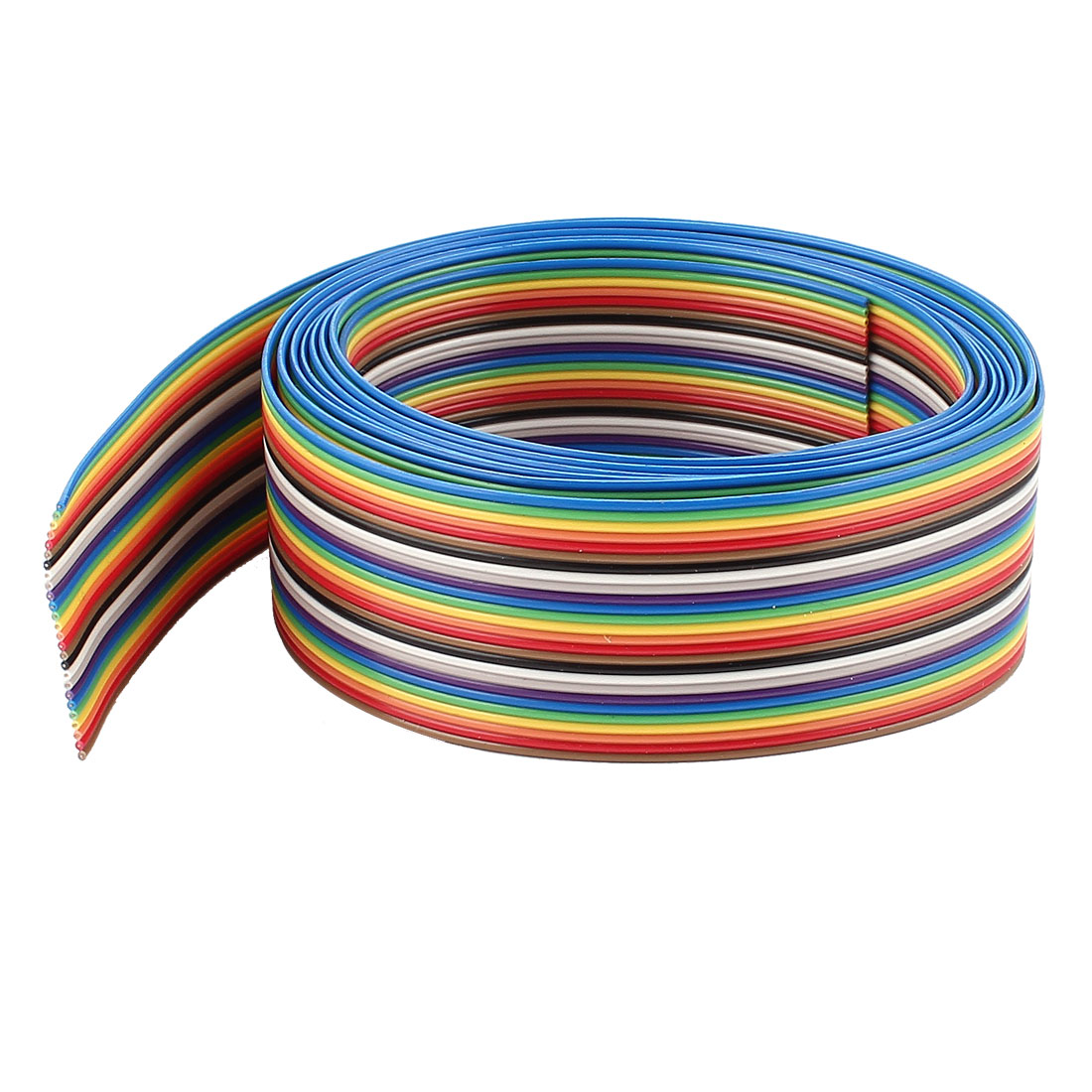 2meter 6.6Ft Long 1.27mm Pitch 26-Pin Colorful Connecting Testing Flat Ribbon Wire Cable