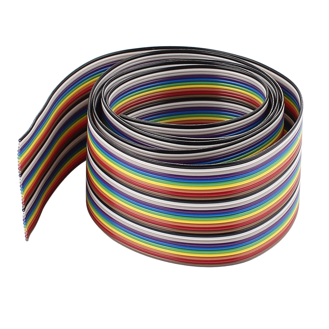 1m 3.3ft 30Pin Rainbow Color Flat Ribbon Cable IDC Wire 1.27mm