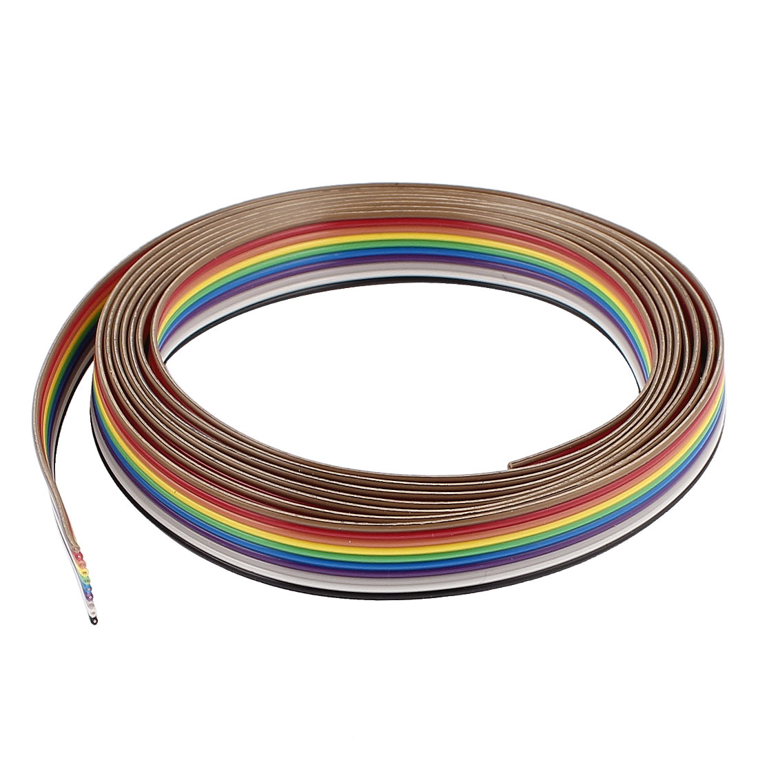 2m 6.5ft 10 Pin Conductor Rainbow Color IDC Flat Ribbon Cable 1.27mm for Arduino
