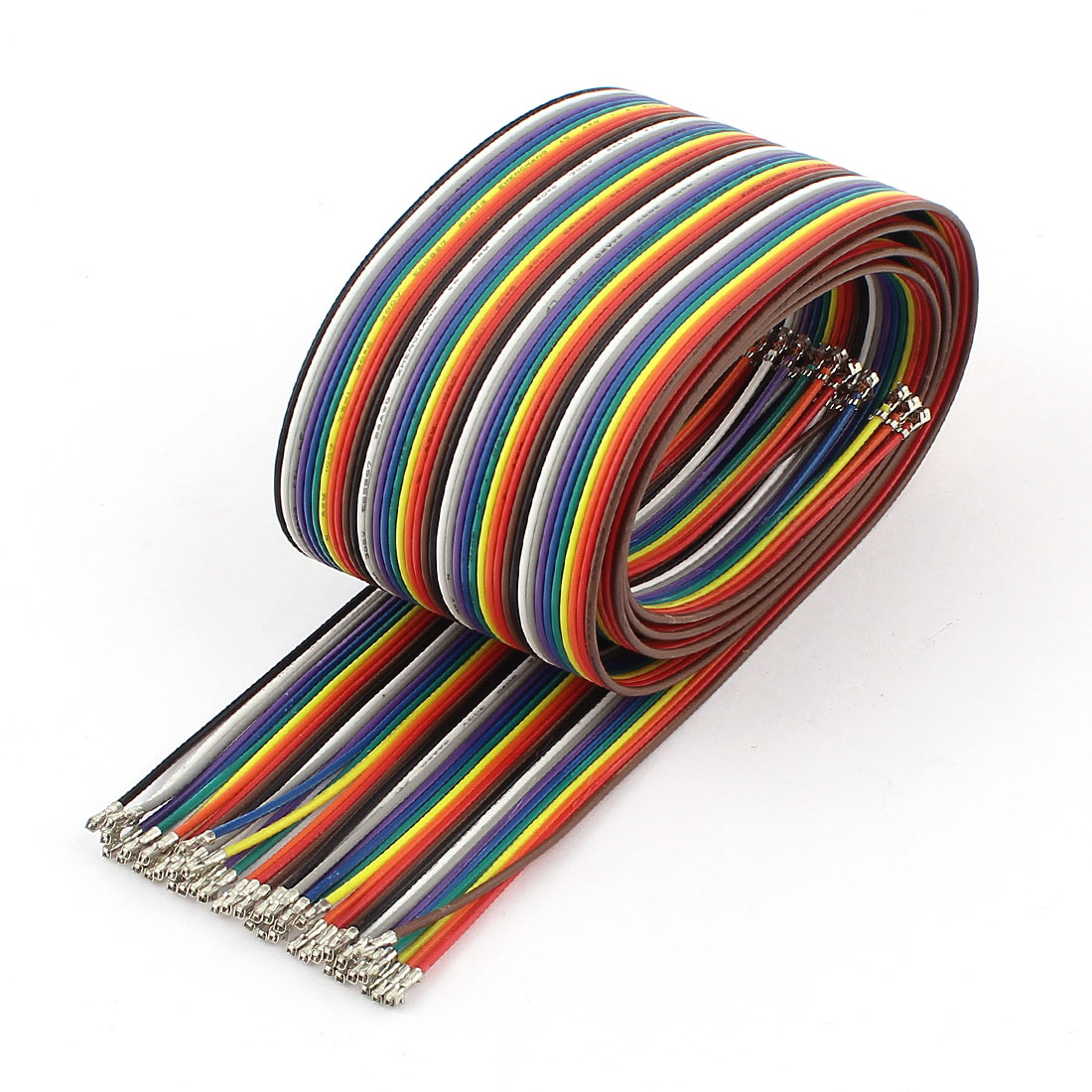 XH2.54 40P 1M 2.54mm Flat Rainbow Ribbon Wire Male to Male Connector