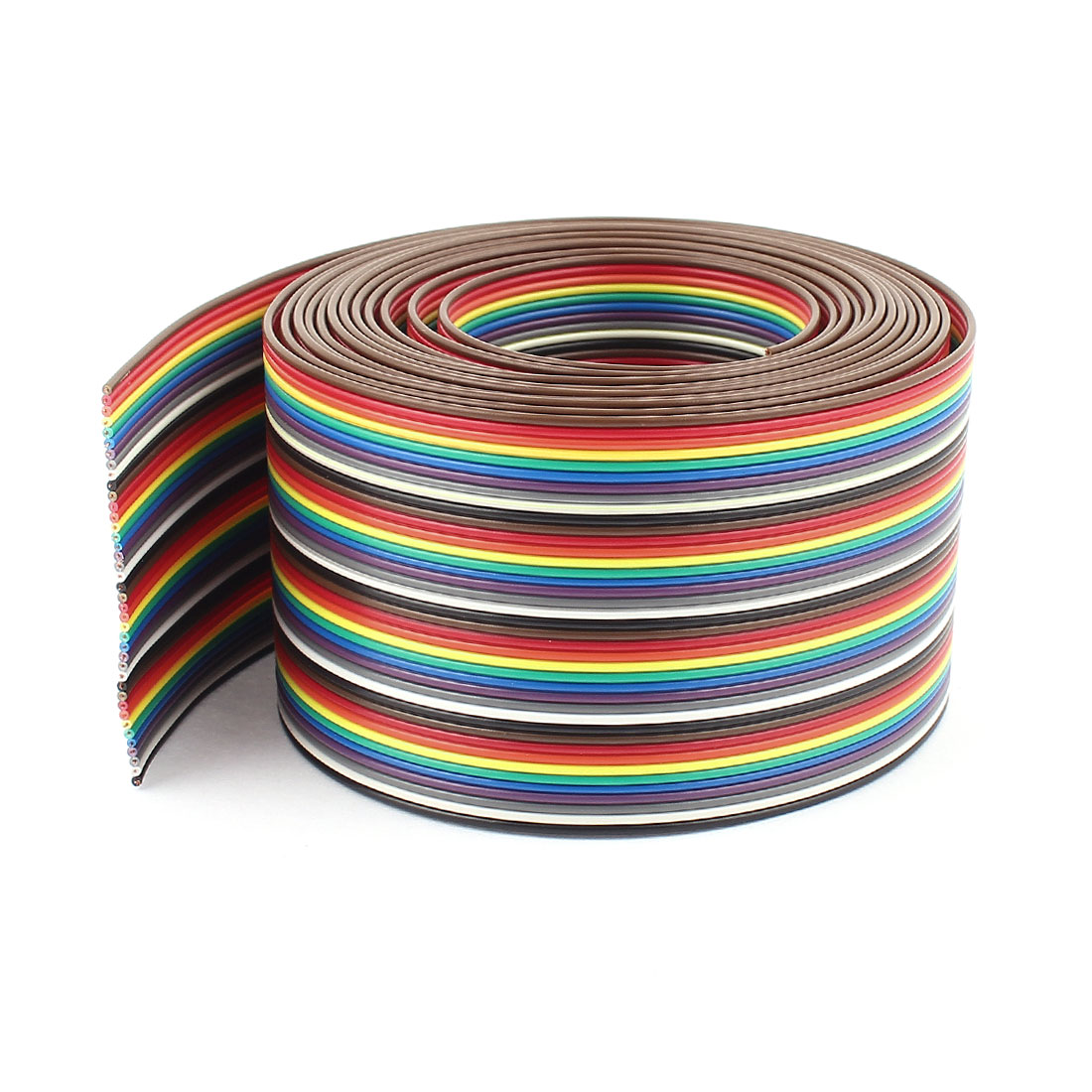 10ft 40 Way 40-Pin Rainbow Color Flat Ribbon Cable IDC Wire 1.37mm Pitch