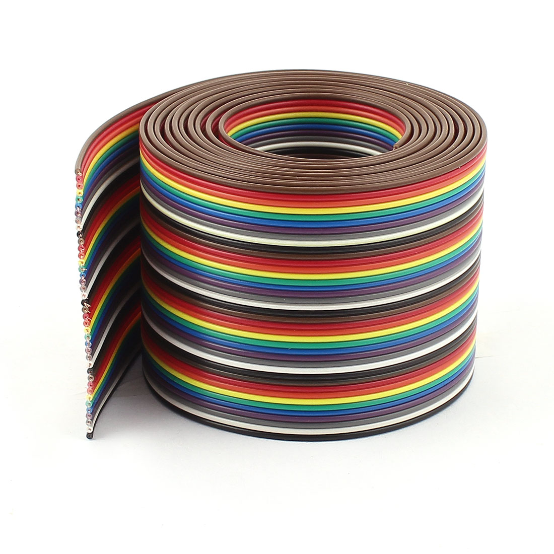 2m 6.5ft 40 Way Rainbow Color IDC Flat Ribbon Cable 1.27mm for Arduino DIY