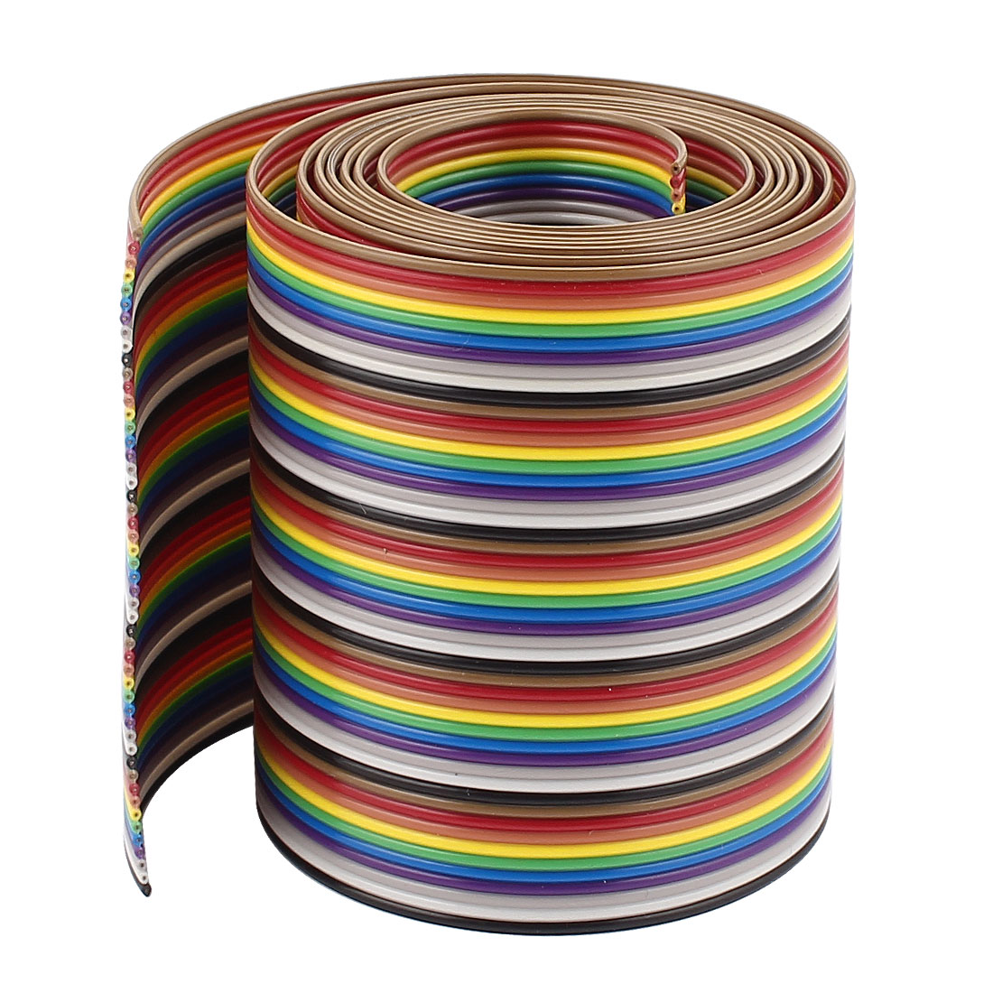1m 3.3ft 50 Way Rainbow Color IDC Flat Ribbon Cable 1.27mm Pitch for Arduino DIY