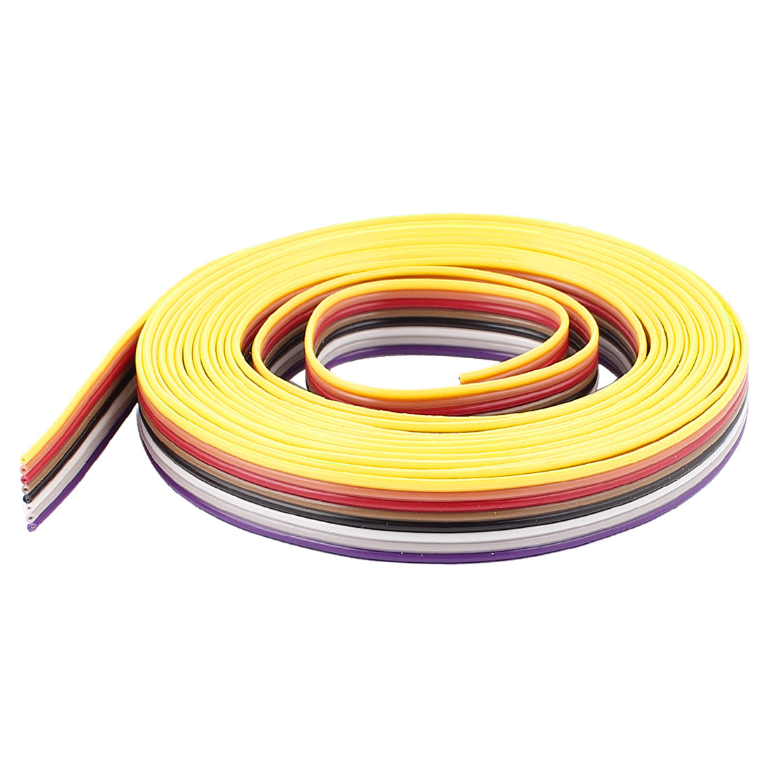 10ft 8 Pin Conductor Rainbow Color IDC Flat Ribbon Cable 1.27mm
