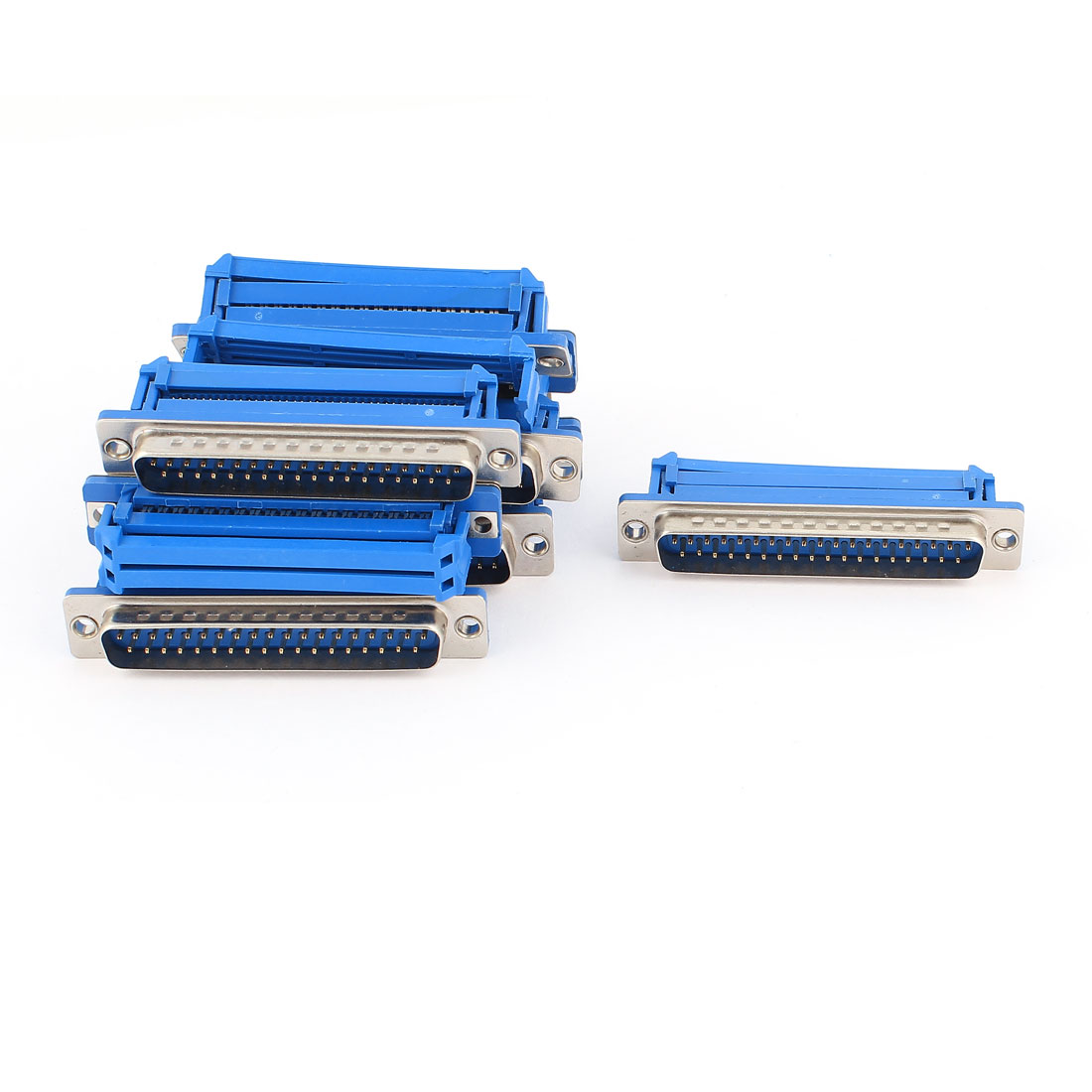 10Pcs D-SUB DB37 Male IDC Connector Blue for Flat Ribbon Cable