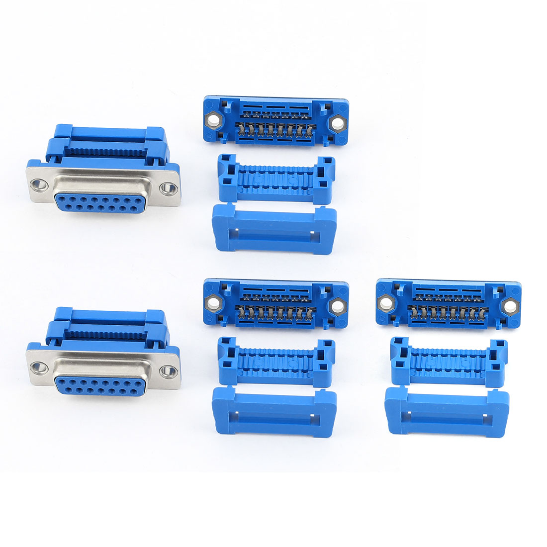 5pcs D-SUB DB15 15 Pin Female IDC Type Adapter Connector for Flat Ribbon Cable