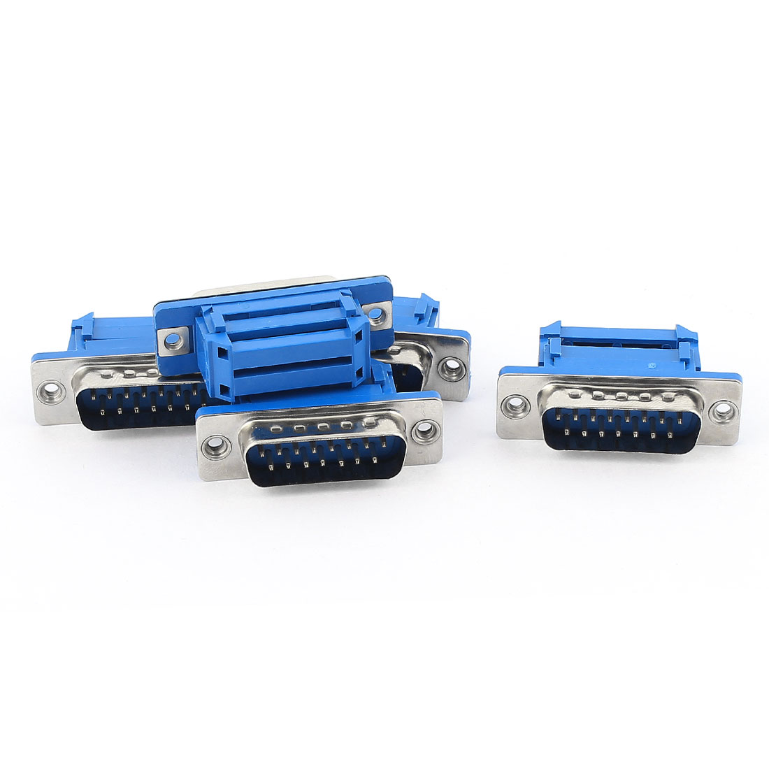 5pcs D-SUB DB15 15 Pin Male IDC Type Crimp Connector for Flat Ribbon Cable