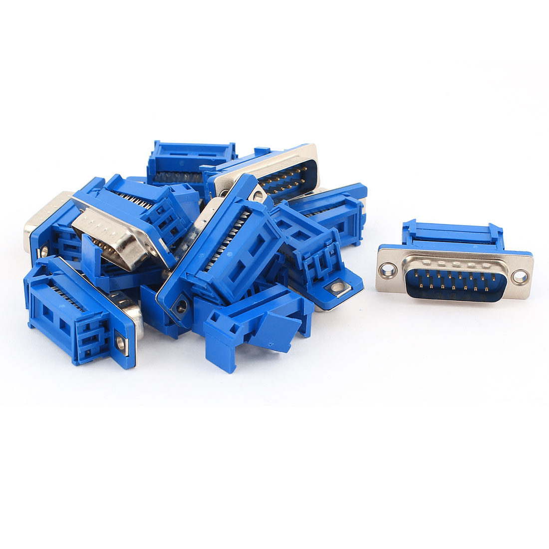 10pcs D-SUB DB15 15 Pin Male IDC Type Crimp Connector for Flat Cable