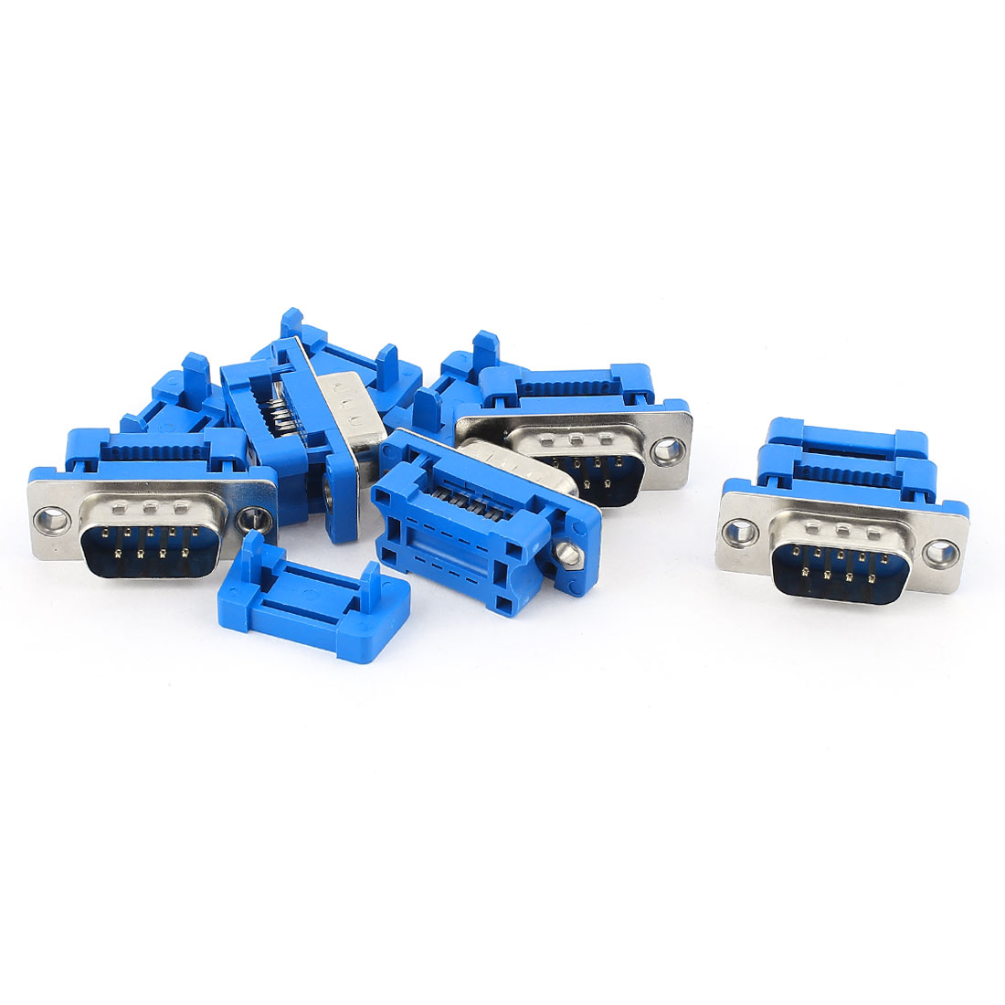 5pcs D-SUB DB9 9 Pin Male IDC Type Connector for Flat Ribbon Cable