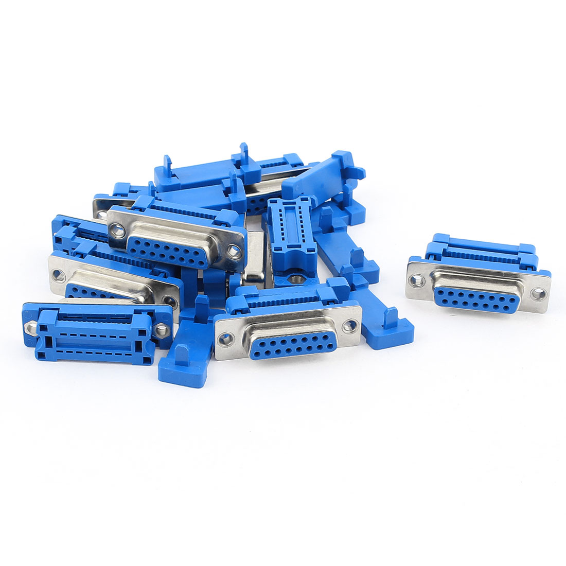 10Pcs D-SUB DB15 15-Pin Female IDC Crimp Connector for Flat Ribbon Cable